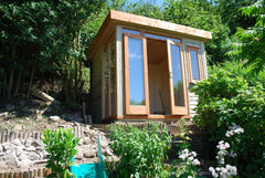 8ft x 8ft Contemporary Garden Office with a Mono Roof