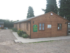 20ft x 80ft Timber Framed Farm Shop with Double Glazed Timber Doors and Windows. Used as a Butchers Shop in Spernal Ash
