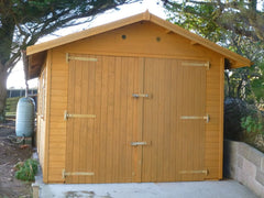 10ft x 20ft Single Timber Garage in Jersey, Customer Painted the Building After Installation