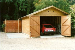 10ft x 20ft Single Timber Garage with Standard Double Doors and Heavy Duty Green Mineral Felt