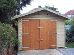 12ft x 20ft Single Timber Garage with Offset Double Doors