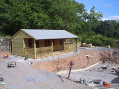24ft x 16ft Pavilion - Changing Rooms for a Swimming Pool