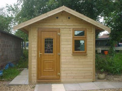8ft x 12ft Studio Garden Building with Timber Finish uPVC Double Glazed Windows and Doors