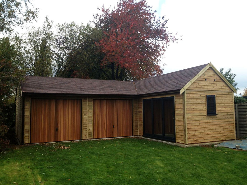 L Shaped Garage And Garden Office