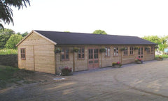 Timber Framed Farm Shop in Jersey with a Black Onduline Roof