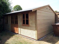Garden Work Room and Leisure Room with Single Glazed Traditional Windows and Double Doors