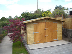 12ft x 18ft Single Timber Garage Manufactured to 2.5m High to Satisfy Planning Regulations and 150mm Overhangs (300mm are Standard)
