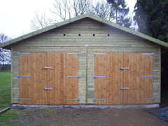 20ft x 30ft Double Timber Garage with 2 Sets of Standard Double Doors
