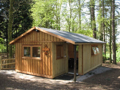 4.5m x 6.5m Scout Group Club House with Vertical Cladding and Double Glazed Timber Framed Windows and Doors