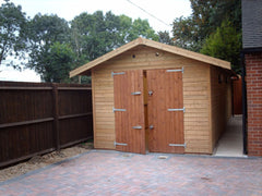 10ft x 18ft Single Timber Garage with Standard Timber Garage Doors