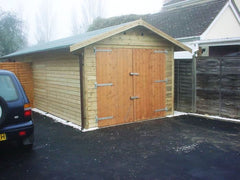 10ft x 24ft Single Timber Garage with Standard Timber Garage Doors