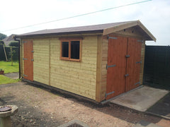 Single Timber Garage Designed to Satisfy Planning Regulations with a Maximum Ridge Height of 2.5m