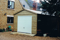 Standard Single Timber Garage with Georgian Up and Over Garage Door with No Overhangs