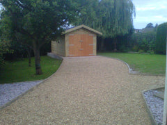 10ft x 20ft Single Timber Garage with Standard Double Garage Doors and a felt Tile Roof