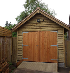 10ft x 20ft Feather Edge Single Timber Garage with a 30 Deg. Pitched Roof