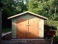 10ft x 16ft Single Timber Garage with a Standard Set of Double Garage Doors