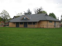 Timber Frame Village Hall with Half Hipped Roof
