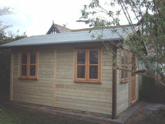 8ft x 12ft Work Room with Traditional Garden Office Windows and Doors with a Heavy Duty Felt Roof