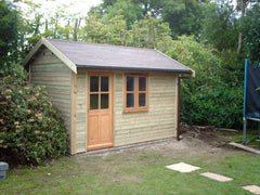 12ft x 8ft Work Room with Felt Tile Roof and Traditional Garden Office and Window