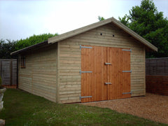 16ft x 12ft Work Room with Large Double Doors, Standard Garage Window and Personnel Door