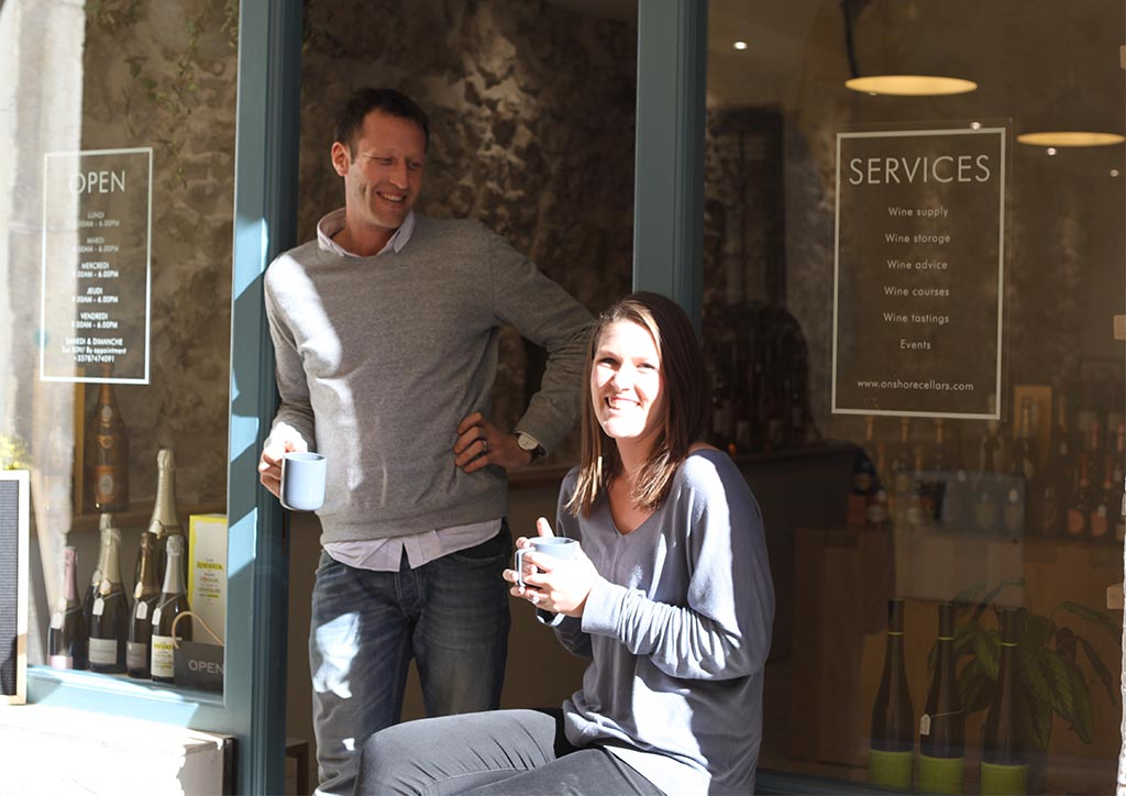 Ed and Jess the owners of the yacht wine supplier - Onshore cellars. Wine for yachts, Spirits for yachts. Provisioning winer and spirits for your yacht