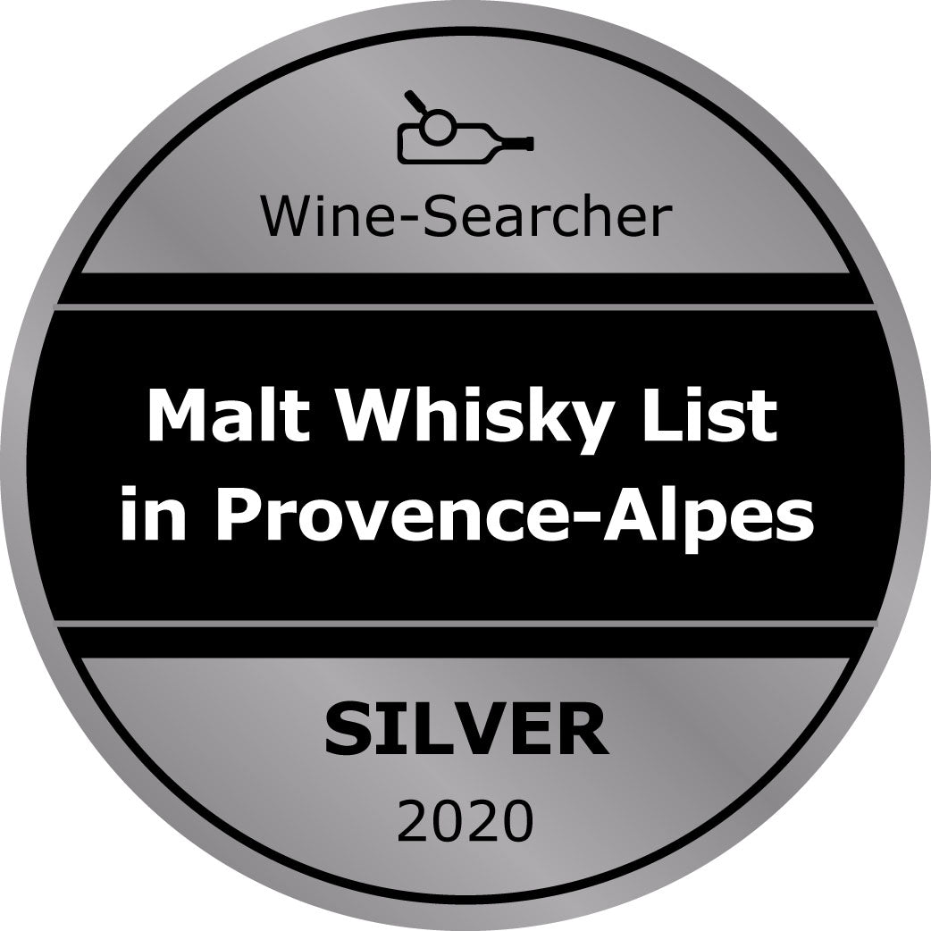 Award wine wine list Gold for Whisky list Provence, Antibes wine shop supplying wines to yachts
