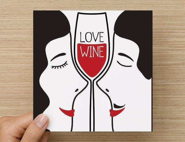 Onshore Cellars greeting_card Valentines Day Card