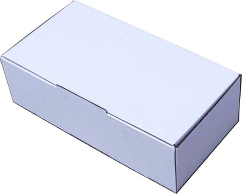 Mailing Box - 240x125x75mm - White - (Fits Australia Post 500g Bags) - 100 units