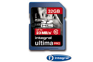 Integral 32GB Class 10 Ultima Pro SDHC Card