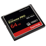 SanDisk Extreme Pro 64 GB 160 MB/s CompactFlash Memory Card - Black/Gold/Red