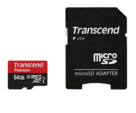 Transcend 64GB microSDXC/SDHC Class 10 UHS-I 600X (Ultimate) Memory Card with Adapter