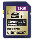 Integral INSDH32G10-95/60U1V2 UltimaPro X 32 GB SDXC Ultra-High-Speed Class 10 Memory Card