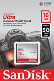 SanDisk Ultra Compact Flash 16 GB UDMA7 Memory Card up to 50 MB/s