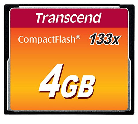 Transcend 4GB Compact Flash 133x Memory Card