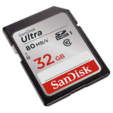SanDisk Ultra SDHC Memory Card Up to 80 MB/s, Class 10, U1, 32 GB, Black/Grey