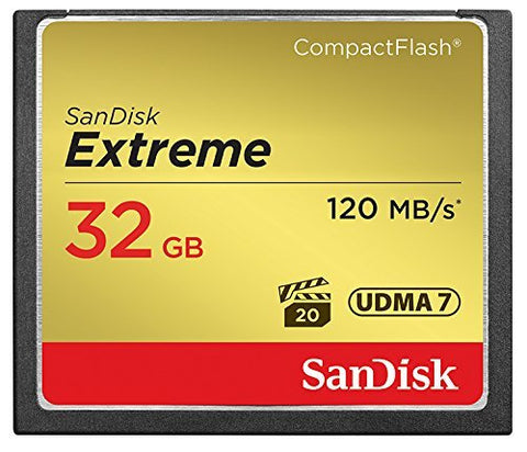 SanDisk Extreme 32 GB UDMA7 CompactFlash Card - Black/Gold