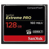 SanDisk Extreme Pro 128 GB 160 MB/s CompactFlash Memory Card - Black/Gold/Red