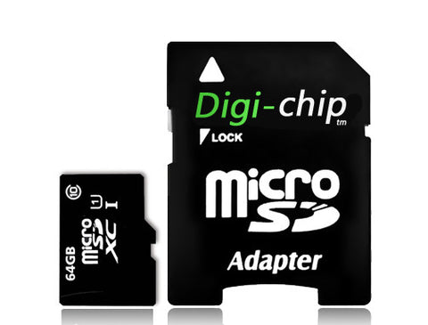Digi Chip 64GB Micro-SD Memory Card Class 10 UHS-1