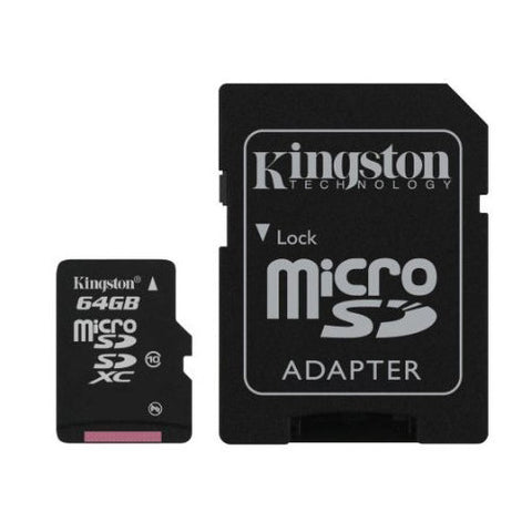 Kingston 64GB Micro SD Memory Card Class 10