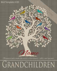 Family Tree Birds 1-10 Template 105