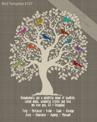 Family Tree Birds 1-10 Template 107
