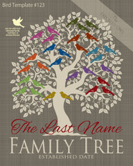 Family Tree Birds 21-30 Template 123