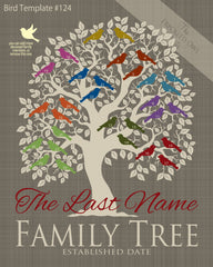 Family Tree Birds 21-30 Template 124