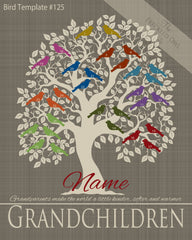 Family Tree Birds 21-30 Template 125