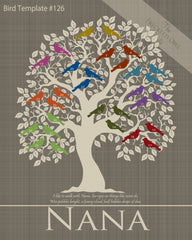Family Tree Birds 21-30 Template 126