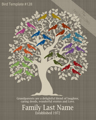 Family Tree Birds 21-30 Template 128