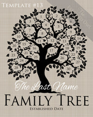 Family Tree Circles 21-30 Template 13