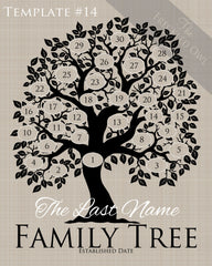 Family Tree Circles 21-30 Template 14