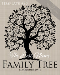 Family Tree Circles 41-50 Template 25