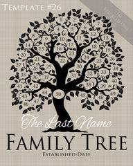 Family Tree Circles 41-50 Template 26